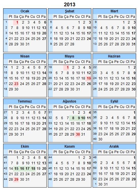 2015 Takvimi ve Resmi Tatil Günleri için gidiniz.